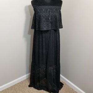 NWT Soft Surroundings Black Strapless Maxi Dress M